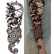 billiga Temporära tatueringar-3 pcs tillfälliga tatueringar Totemserier / Blomserier Lena klistermärken / Miljövänlig / Engångsvara Body art Kropp / arm / Ben / Dekalstil tillfälliga tatueringar