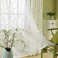 billige Gjennomsiktige gardiner-Gardiner Skygge Soverom Blomstret / Geometrisk Polyester Trykket