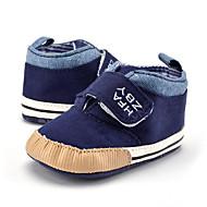 baratos Sapatos de Menino-Para Meninos Sapatos Lona Primavera & Outono Curta / Ankle Botas Velcro para Bebê Khaki / Azul Real / Botas Curtas / Ankle
