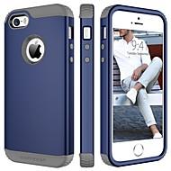 billiga Mobil cases & Skärmskydd-BENTOBEN fodral Till Apple iPhone 5-fodral Stötsäker Fodral Enfärgad Hårt TPU / PC för iPhone SE / 5s / iPhone 5