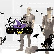 billige Dekorasjon-Vindufilm og klistremerker Dekorasjon Halloween Ferie PVC Vindusklistremerke