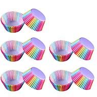 billige Bakeredskap-100 stk fargerik regnbue papir kake cupcake liner baker muffin boks kupong fest bakke kake mold dekorere verktøy
