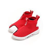 baratos Sapatos de Menina-Para Meninos / Para Meninas Sapatos Tricô Primavera Verão / Outono & inverno Conforto Botas Corrida / Caminhada Combinação para Infantil / Bebê Preto / Vermelho / Botas Curtas / Ankle