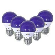 billiga Belysning-EXUP® 5pcs 5 W 450 lm E26 / E27 LED-globlampor G45 12 LED-pärlor SMD 2835 Gulligt / Kreativ / Party Blå 220-240 V / 110-130 V