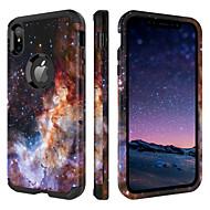 billiga Mobil cases & Skärmskydd-fodral Till Apple iPhone XR / iPhone XS Max Stötsäker / Mönster Fodral Färggradient Hårt TPU / PC för iPhone XR / iPhone XS Max