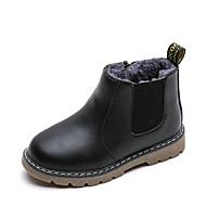 baratos Sapatos de Menina-Para Meninas Sapatos Couro Ecológico Inverno / Outono & inverno Botas da Moda Botas Caminhada Tira Trançada para Infantil / Adolescente Preto / Cinzento / Castanho Escuro / Botas Curtas / Ankle