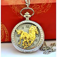 billige Lommeure-Herre Par Lommeure Quartz Afslappet Ur Sej Legering Bånd Analog Vintage Afslappet Sølv - Guld