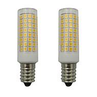 billige Kornpærer med LED-2pcs 5 W 460 lm E14 LED-kornpærer 102 LED perler SMD 2835 Dekorativ Varm hvit / Kjølig hvit 110-130 V