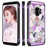 billiga Mobil cases & Skärmskydd-BENTOBEN fodral Till Samsung Galaxy S9 Plus Stötsäker / Plätering / Mönster Skal Växter / Geometriska mönster / Blomma Hårt TPU / PC för S9 Plus