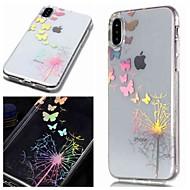 billiga Mobil cases & Skärmskydd-fodral Till Apple iPhone XR / iPhone XS Max IMD / Genomskinlig / Mönster Skal Fjäril / Maskros Mjukt TPU för iPhone XS / iPhone XR / iPhone XS Max