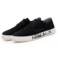 cheap Men's Sneakers-Men's Comfort Shoes Suede Fall Casual Sneakers Breathable Black / Dark Blue / Khaki