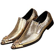 baratos Sapatos de Tamanho Pequeno-Homens Sapatos de couro Pele Napa Primavera Formais Oxfords Não escorregar Dourado / Champanhe / Festas & Noite