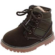 baratos Sapatos de Menino-Para Meninos / Para Meninas Sapatos Couro Ecológico Outono & inverno Conforto / Coturnos Botas Cadarço para Infantil / Bébé Preto / Bege / Verde / Botas Curtas / Ankle