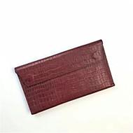 baratos Clutches & Bolsas de Noite-Mulheres Bolsas Pele Bolsa de Mão Côr Sólida Verde Tropa / Vinho / Khaki