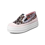 baratos Sapatos Femininos-Mulheres Sapatos Confortáveis Borracha Outono Mocassins e Slip-Ons Sem Salto Dedo Fechado Branco / Preto