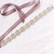 Raso / tulle Matrimonio / Occasioni speciali Fusciacca Con Perle di imitazione / Cristalli / Strass Per donna Fasce