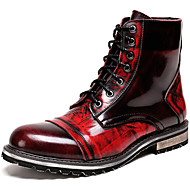 billige Utvalgte tilbud-Herre Pen sko Nappa Lær Vinter Britisk Støvler Hold Varm Ankelstøvler Vin / Fest / aften