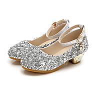baratos Sapatos de Menino-Para Meninos / Para Meninas Sapatos Couro Ecológico Primavera & Outono Sapatos para Daminhas de Honra Saltos Lantejoulas para Infantil / Bébé Prateado / Azul / Rosa claro