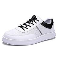 baratos Sapatos Masculinos-Homens Sapatos Confortáveis Linho / Couro Ecológico Outono Casual Tênis Não escorregar Estampa Colorida Branco / Bege / Verde