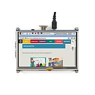 5 tommers resistiv berøringsskjerm lcd, hdmi grensesnitt, designet for raspberry pi waveshare