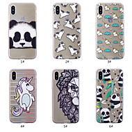 billiga Mobil cases & Skärmskydd-fodral Till Apple iPhone XS / iPhone XS Max Mönster Skal Tecknat / Panda Mjukt TPU för iPhone XS / iPhone XR / iPhone XS Max