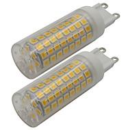 billige Bi-pin lamper med LED-2pcs 5 W 460 lm G9 LED-lamper med G-sokkel T 102 LED perler SMD 2835 Varm hvit / Kjølig hvit 220-240 V