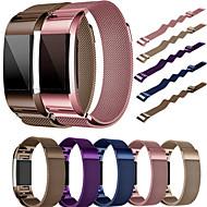 billiga Smart klocka Tillbehör-Klockarmband för Fitbit Charge 2 Fitbit Milanesisk loop Rostfritt stål Handledsrem