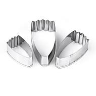 billige Bakeredskap-Bakeware verktøy Aluminium Kreativ Kjøkken Gadget Originale kjøkkenredskap Cube Dessertverktøy 3pcs