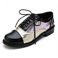 baratos Sapatos Femininos-Mulheres Sapatos Confortáveis Couro Ecológico Primavera Oxfords Salto de bloco Dourado / Vermelho / Rosa claro
