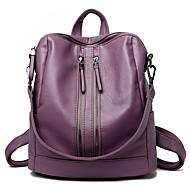 cheap Backpacks-Women's Bags PU(Polyurethane) Backpack Zipper Purple / Sillver Gray / Wine