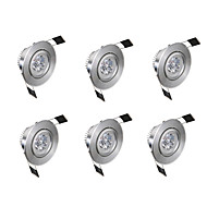 billige Innfelte LED-lys-6pcs 3 W 300 lm 3 LED perler Lett installasjon Nedfellt Innfelt lampe Varm hvit Kjølig hvit 85-265 V Kommersiell Hjem / kontor Stue / spisestue