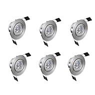 billige Innfelte LED-lys-6pcs 3 W 300 lm lm 3 LED perler Lett installasjon / Nedfellt Innfelt lampe Varm hvit / Kjølig hvit 85-265 V Kommersiell / Hjem / kontor / Stue / spisestue