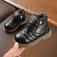 baratos Sapatos de Menino-Para Meninos Sapatos Couro Sintético / Couro Ecológico Primavera Verão Conforto / Botas da Moda Botas Caminhada Combinação / Velcro para Infantil Preto / Amarelo / Castanho Escuro