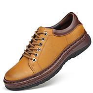 baratos Sapatos Masculinos-Homens Sapatos formais Pele Napa Outono Negócio / Formais Oxfords Não escorregar Amarelo / Marron