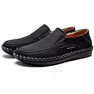 baratos Sapatos Masculinos-Homens Sapatos Confortáveis Microfibra Primavera Mocassins e Slip-Ons Preto / Amarelo / Khaki