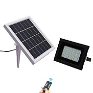 baratos Focos-1pç 5 W Focos de LED Impermeável / Controlado remotamente / Solar Branco Frio 3.7 V Iluminação Externa / Pátio / Jardim 54 Contas LED