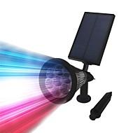 billige Utendørs Lampeskjermer-1pc 3 W Solar Wall Light Vanntett / Solar / Mulighet for demping Varm hvit / Kjølig hvit / RGB 3.7 V Utendørsbelysning / Courtyard / Have 7 LED perler
