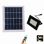 baratos Focos-1pç 5 W Focos de LED Impermeável / Controlado remotamente / Solar Branco Quente + Branco 3.7 V Iluminação Externa / Pátio / Jardim 80 Contas LED