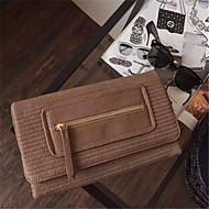 baratos Clutches & Bolsas de Noite-Mulheres Bolsas PU Bolsa de Mão Ziper Preto / Vinho / Khaki