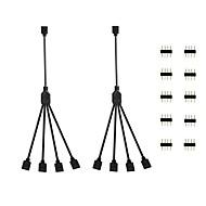 billige belysning Tilbehør-KWB 2pcs Strip Light Tilbehør ABS + PC Elektrisk kabel for LED Strip lys