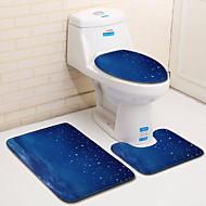 3 komada Moderna Prostirke za kupaonicu 100g / m2 poliester Knit Stretch Geometrijski oblici Neregularan Kupaonica Cool