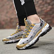 baratos Sapatos Masculinos-Homens Sapatos Confortáveis Com Transparência Outono Esportivo / Casual Tênis Corrida Dourado / Preto / Preto / Vermelho