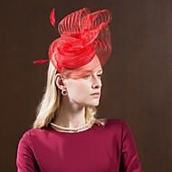 Faser Kentucky Derby-Hut / Hüte mit Feder 1pc Besondere Anlässe / Party / Abend Kopfschmuck