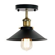 billige Taklamper-moderne industrielt taklampe semi flush vintage metall 1-lys taklampe spisestue kjøkken lysarmatur
