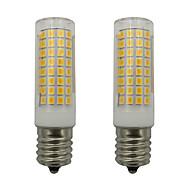 billige Kornpærer med LED-2pcs 5 W 460 lm E17 LED-kornpærer 102 LED perler SMD 2835 Varm hvit / Kjølig hvit 220-240 V
