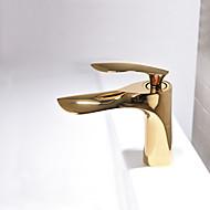 Baderom Sink Tappekran - Nytt Design Malte Finishes Vannrett Montering Enkelt Håndtak Et HullBath Taps