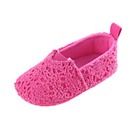 baratos Sapatos de Menina-Para Meninos / Para Meninas Sapatos Tecido elástico Primavera & Outono / Inverno Conforto / Primeiros Passos Rasos Elástico para Bebê Amarelo / Fúcsia / Rosa claro