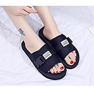 baratos Sapatos Femininos-Mulheres Jeans Verão Chinelos e flip-flops Sem Salto Preto