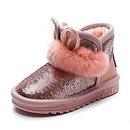 baratos Sapatos de Menina-Para Meninos / Para Meninas Sapatos Couro Envernizado Inverno Botas de Neve Botas Lantejoulas para Infantil Preto / Cinzento / Rosa claro