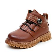 baratos Sapatos de Menina-Para Meninos / Para Meninas Sapatos Couro Ecológico Primavera & Outono / Inverno Coturnos Botas para Infantil / Adolescente Preto / Marron / Vermelho